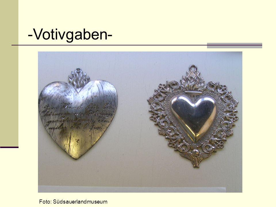 Foto: Südsauerlandmuseum -Votivgaben-
