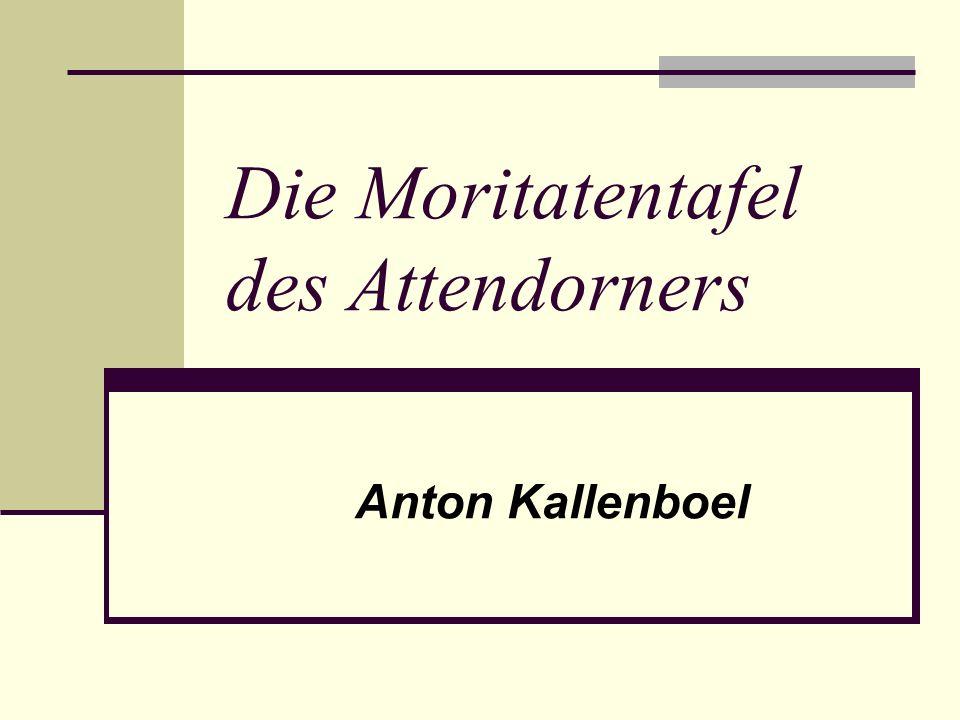 Die Moritatentafel des Attendorners Anton Kallenboel