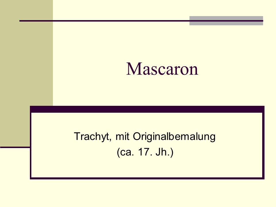 Mascaron Trachyt, mit Originalbemalung (ca. 17. Jh.)
