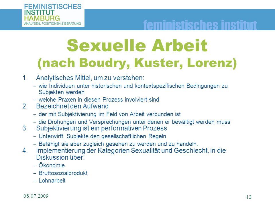 feministisches institut 1.Analytisches Mittel, um zu verstehen: wie Individuen unter historischen und kontextspezifischen Bedingungen zu Subjekten wer
