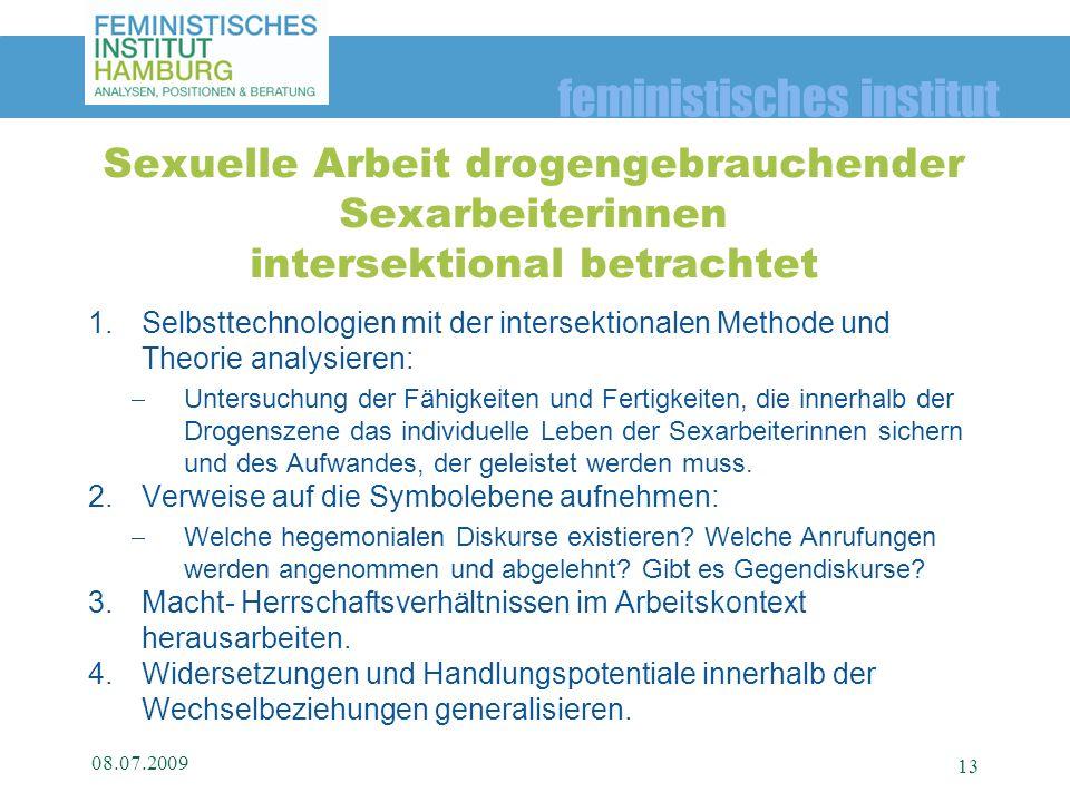 feministisches institut 1.Selbsttechnologien mit der intersektionalen Methode und Theorie analysieren: Untersuchung der Fähigkeiten und Fertigkeiten,