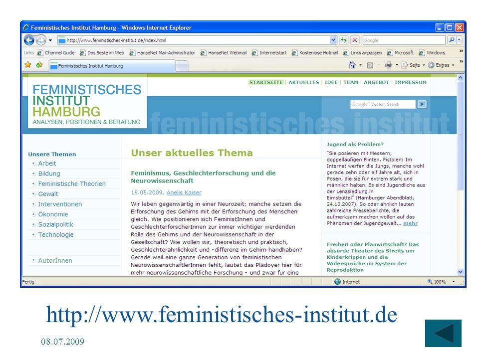 http://www.feministisches-institut.de 08.07.2009 15