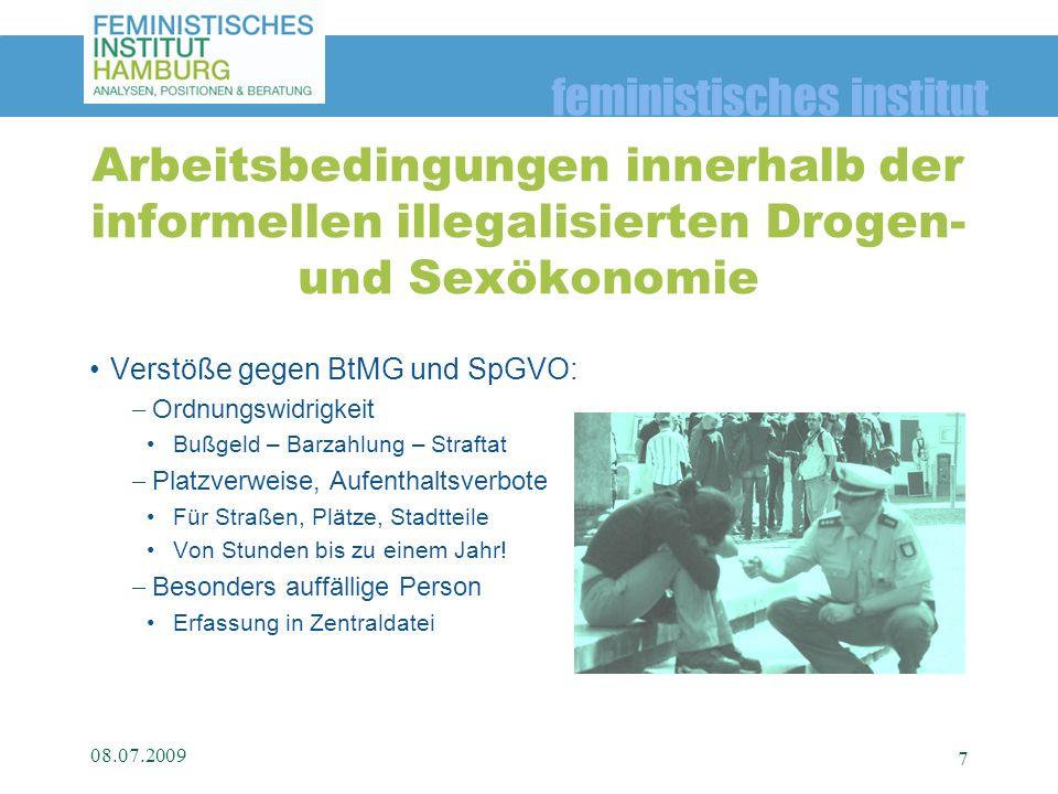 feministisches institut Verstöße gegen BtMG und SpGVO: Ordnungswidrigkeit Bußgeld – Barzahlung – Straftat Platzverweise, Aufenthaltsverbote Für Straße
