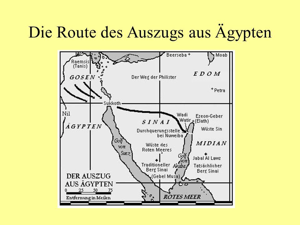 Die Route des Auszugs aus Ägypten