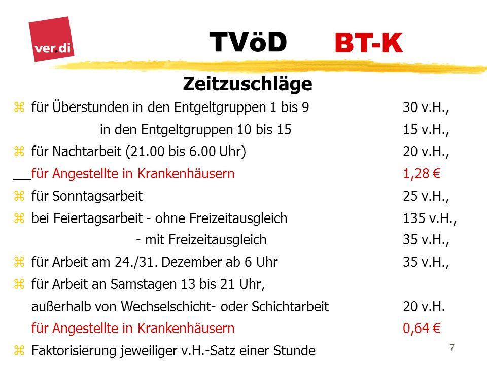 TVöD 18 Abschnitt IV Urlaub und Arbeitsbefreiung § 27 Abs.