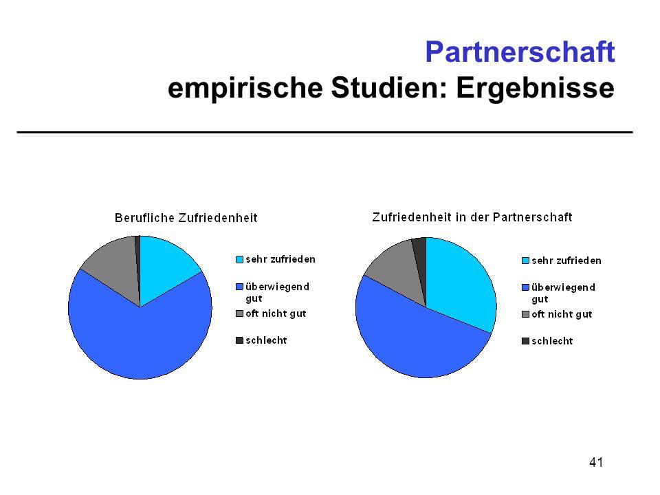 41 Partnerschaft empirische Studien: Ergebnisse