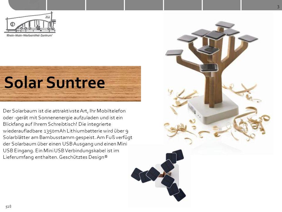3 Solar Suntree Der Solarbaum ist die attraktivste Art, Ihr Mobiltelefon oder -gerät mit Sonnenenergie aufzuladen und ist ein Blickfang auf Ihrem Schr