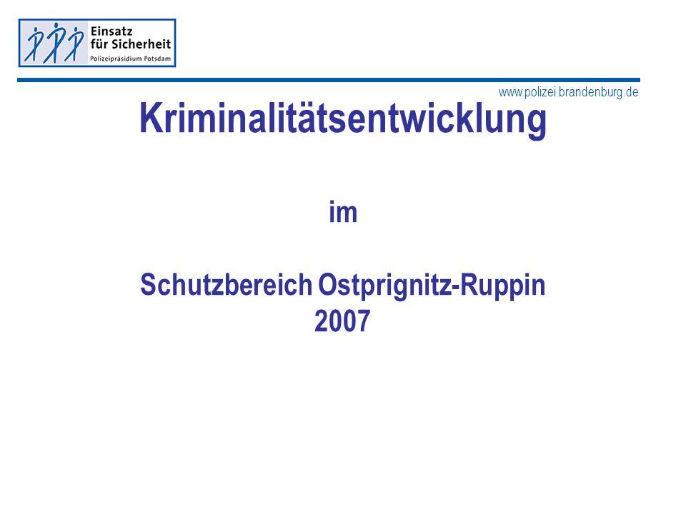 www.polizei.brandenburg.de Kriminalitätsentwicklung im Schutzbereich Ostprignitz-Ruppin 2007