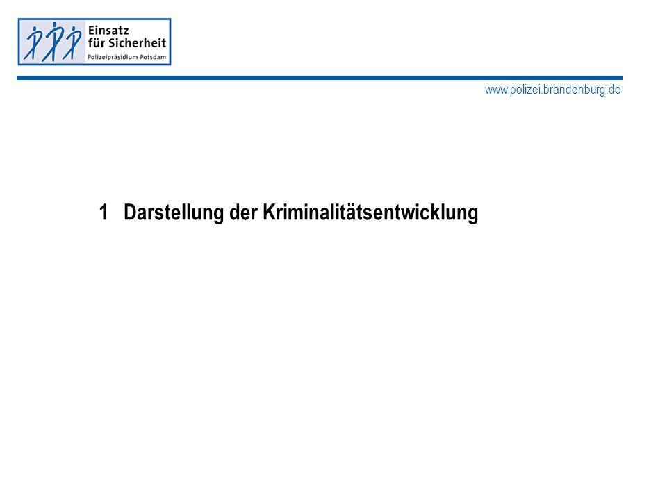www.polizei.brandenburg.de 1Darstellung der Kriminalitätsentwicklung