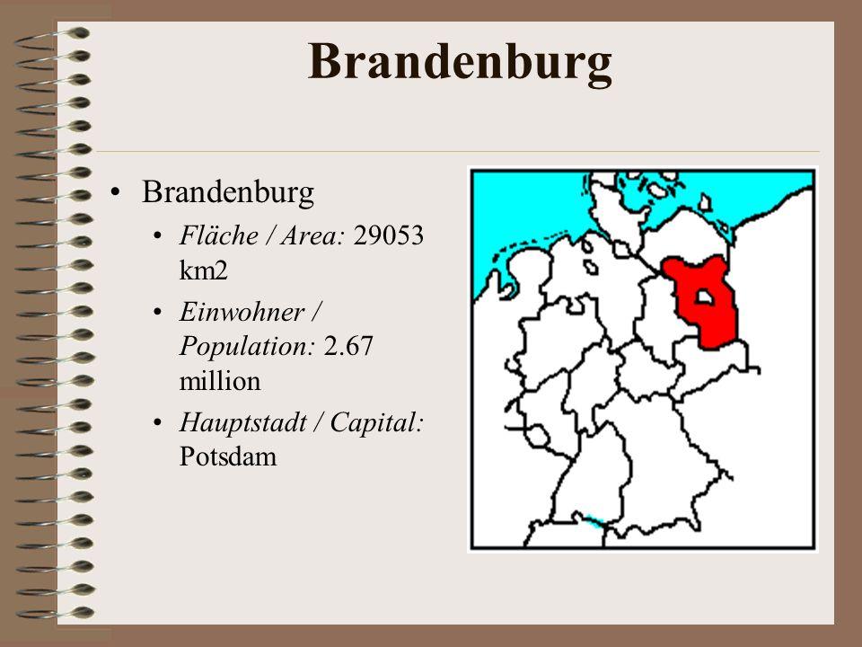 Bremen Freie Hansestadt Bremen Fläche / Area: 404 km2 Einwohner / Population: 0.68 million