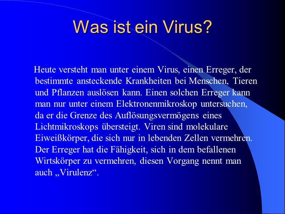 Was ist ein Virus.