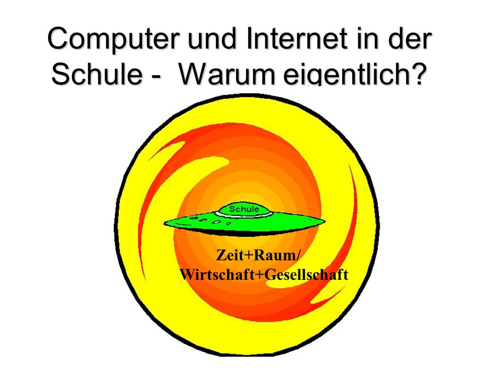 Computer und Internet in der Schule - Warum eigentlich? Zeit+Raum/ Wirtschaft+Gesellschaft