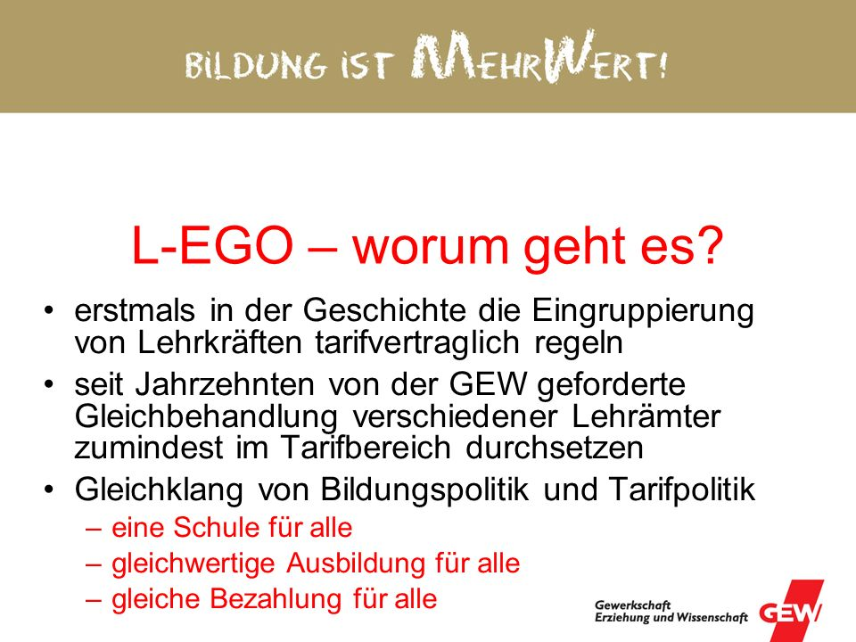 L-EGO – worum geht es.