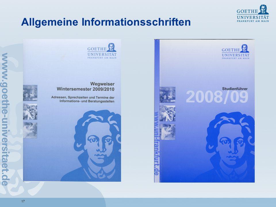 17 Allgemeine Informationsschriften