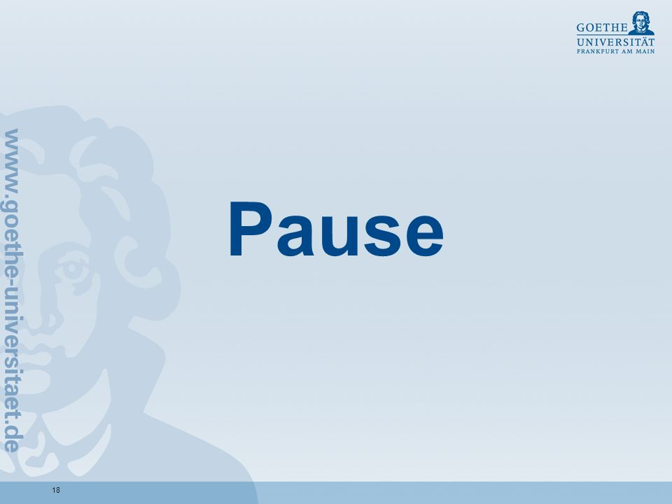 18 Pause