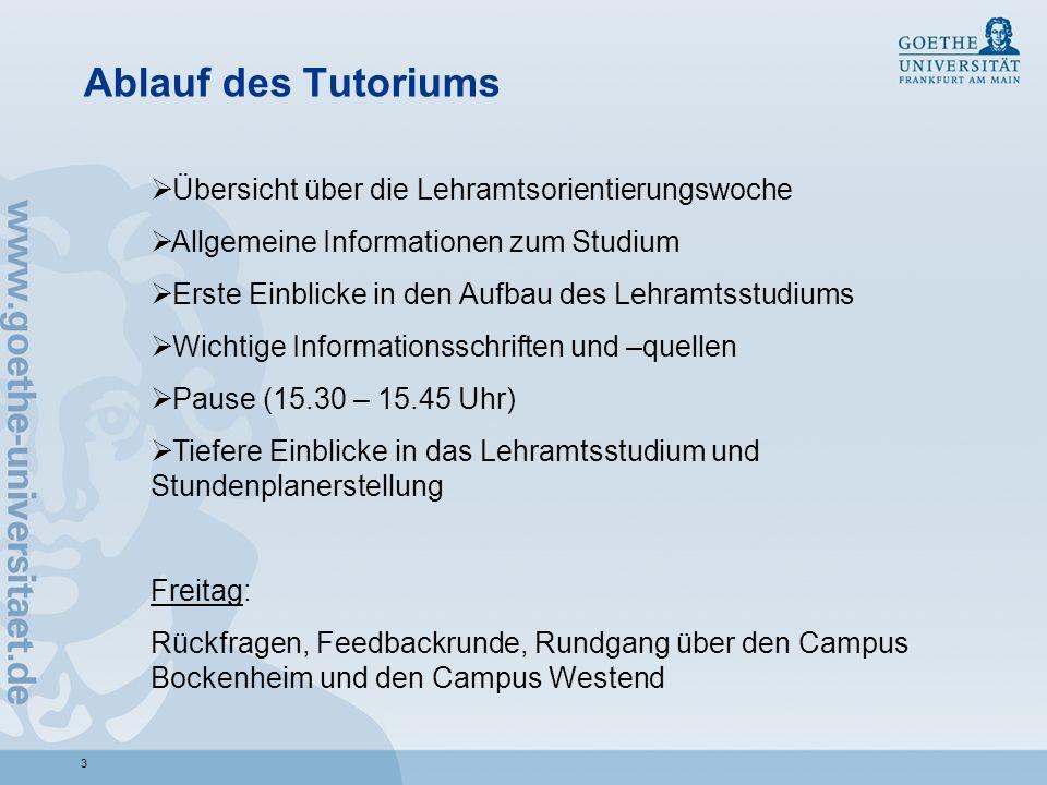 44 Orientierung auf dem Campus Bockenheim/Campus Westend Raumabkürzungen im Vorlesungsverzeichnis: NM 120 Neue Mensa (Campus Bockenheim) H 1 bzw.