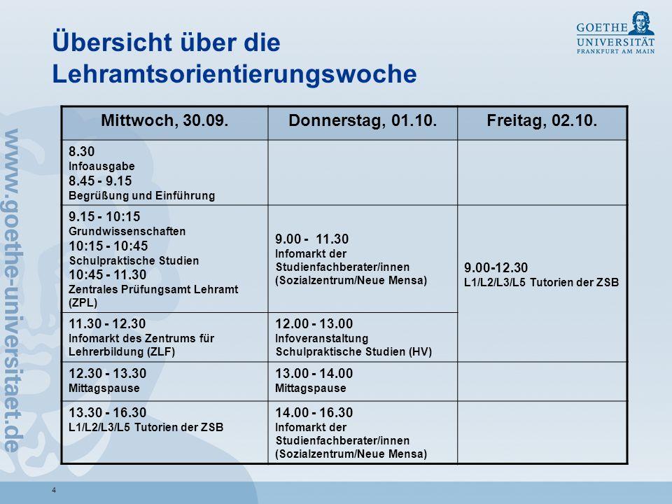 15 Wichtige Informationsschriften II http://www.satzung.uni- frankfurt.de/lehramt/index.html