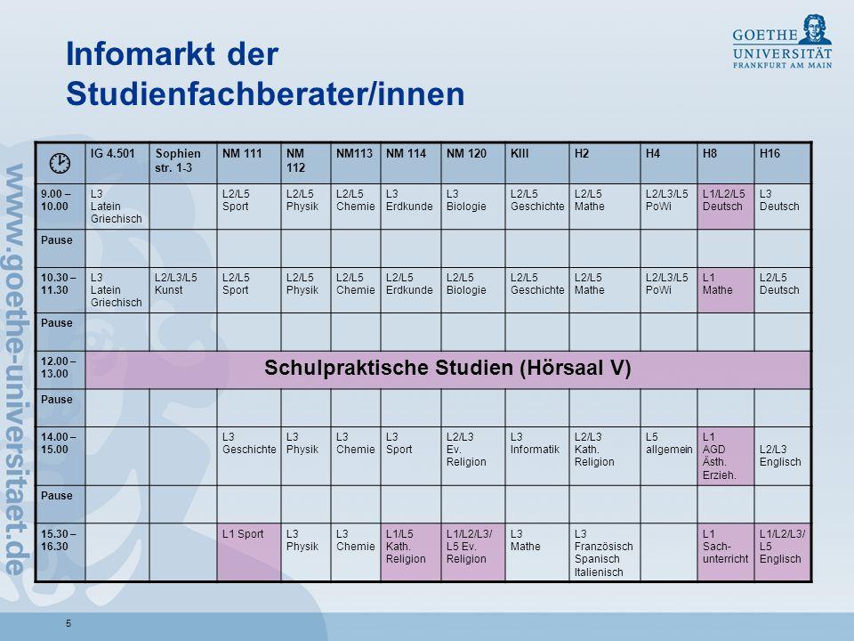 16 Wichtige Informationsschriften III Vorlesungsverzeichnis im Netz: https://qis.server.uni-frankfurt.de/ https://qis.server.uni-frankfurt.de/ Kommentierte Vorlesungsverzeichnisse der Institute