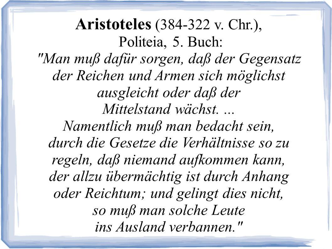 Aristoteles (384-322 v.Chr.), Politeia, 5.