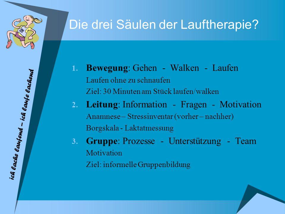 Die drei Säulen der Lauftherapie.