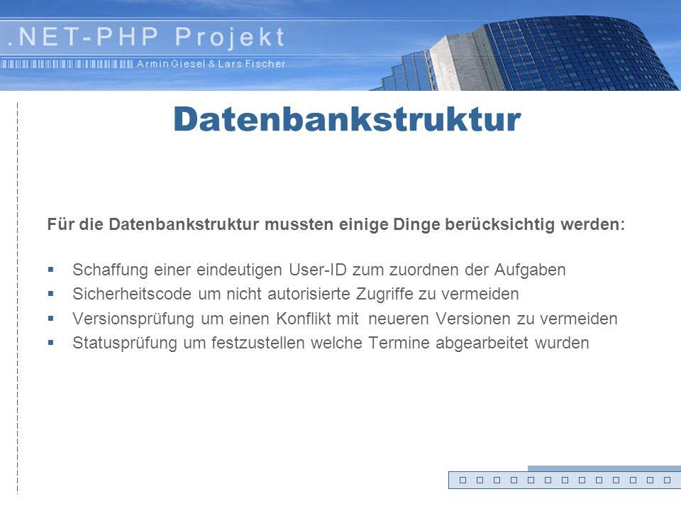 Konfiguration DB PHP SOAP XML