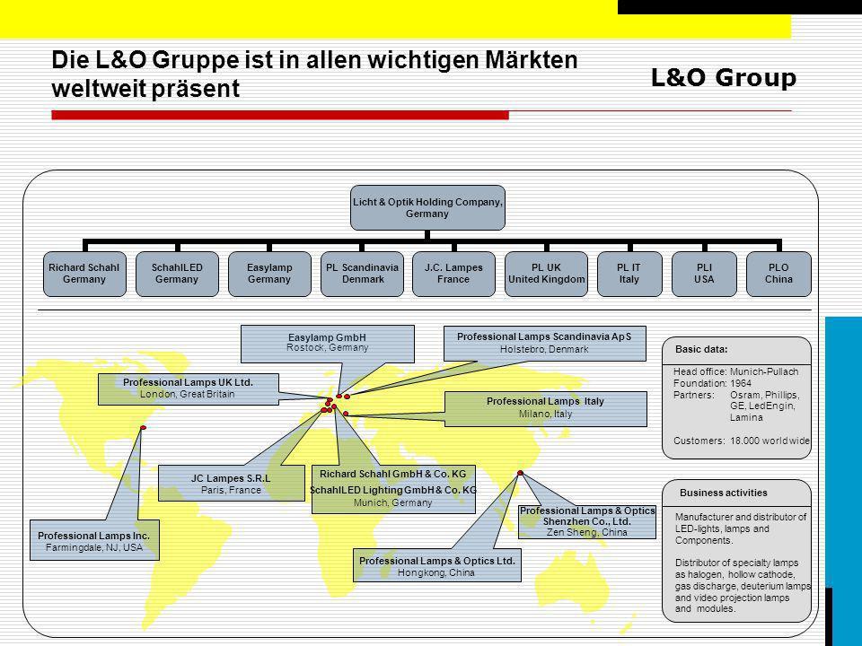 L&O Group Unsere Mission Alles, was in Spezialanwendungen leuchtet, ist unser Geschäft