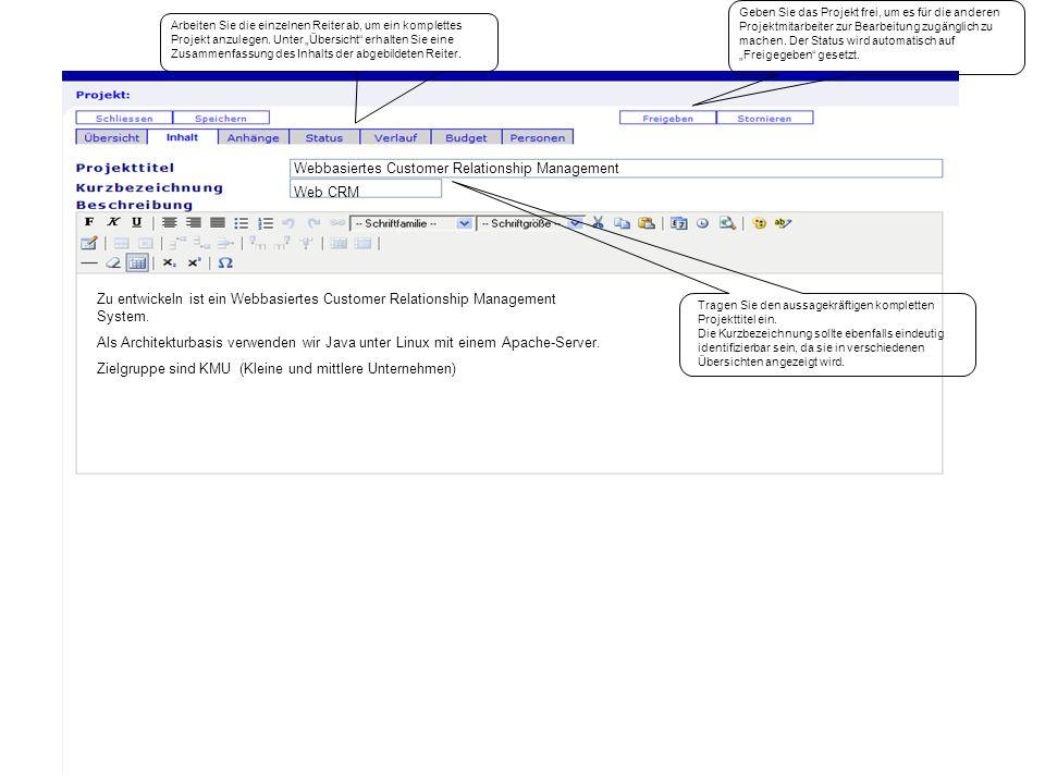 Das Statuskonzept drückt aus, welchen Bearbeitungsstand das Dokument zum aktuellen Zeitpunkt hat.