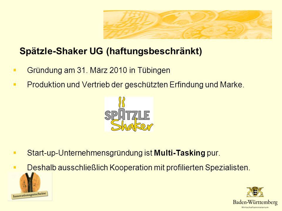 Gründung am 31.März 2010 in Tübingen Produktion und Vertrieb der geschützten Erfindung und Marke.