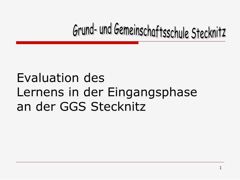 Evaluation des Lernens in der Eingangsphase an der GGS Stecknitz 1