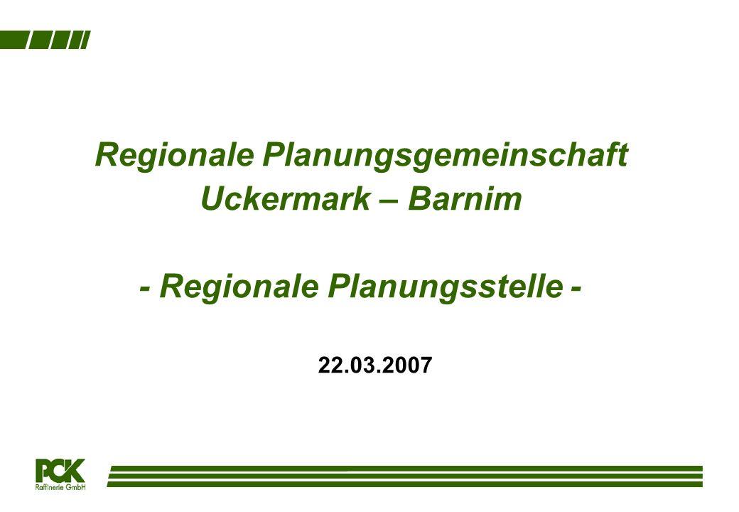 Regionale Planungsgemeinschaft Uckermark – Barnim - Regionale Planungsstelle - 22.03.2007