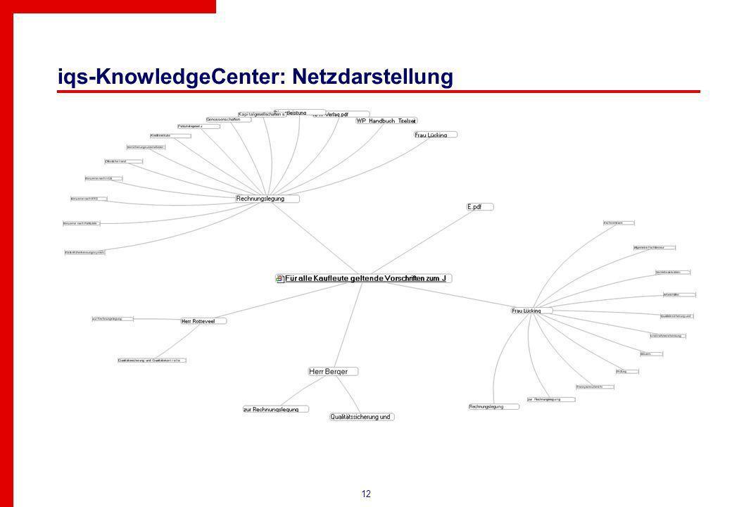 12 iqs-KnowledgeCenter: Netzdarstellung