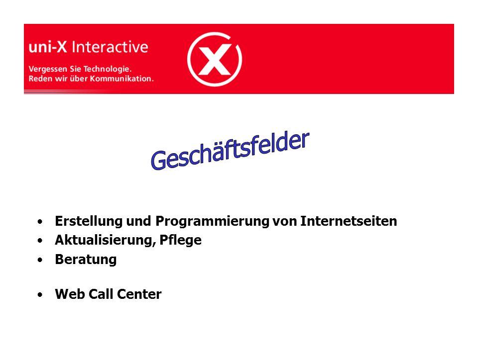 Erstellung und Programmierung von Internetseiten Aktualisierung, Pflege Beratung Web Call Center