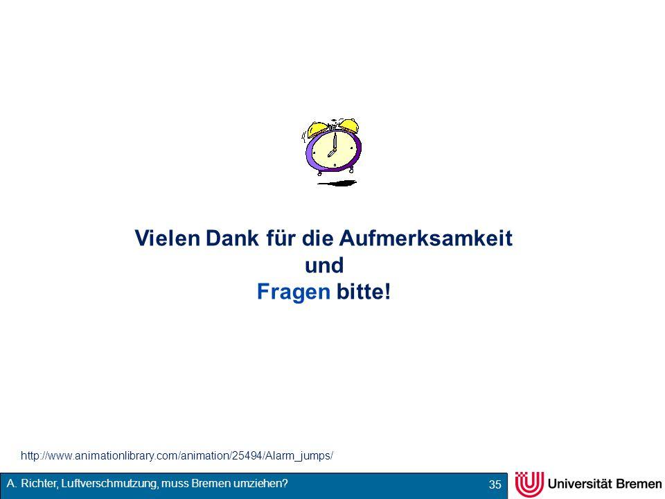 A. Richter, Luftverschmutzung, muss Bremen umziehen? 35 Vielen Dank für die Aufmerksamkeit und Fragen bitte! http://www.animationlibrary.com/animation