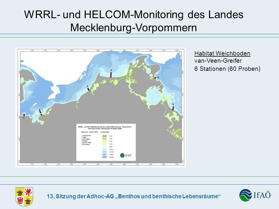 13. Sitzung der Adhoc-AG Benthos und benthische Lebensräume WRRL- und HELCOM-Monitoring des Landes Mecklenburg-Vorpommern Habitat Weichboden van-Veen-