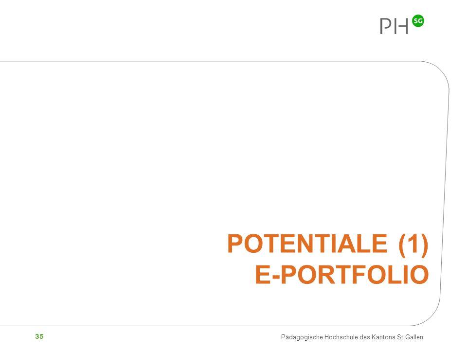 35 Pädagogische Hochschule des Kantons St.Gallen POTENTIALE (1) E-PORTFOLIO