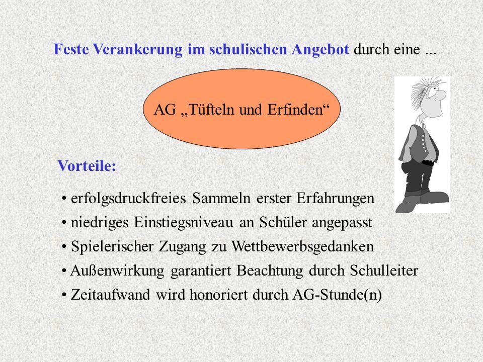 Anwerben von Schülern für die AG Plakataushang an der AG-Info-Tafel Gestaltung einer Tüftel-AG-Wandtafel mit aktuellen Angeboten bzw.