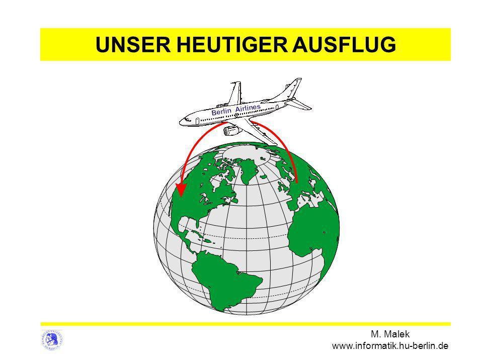 M. Malek www.informatik.hu-berlin.de UNSER HEUTIGER AUSFLUG