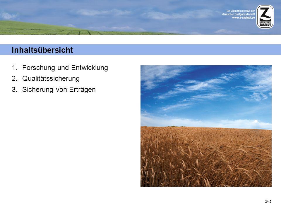 23/42 Beizung – Nutzen und sicherer Umgang Zertifiziertes Saatgut wird in der Regel gebeizt angeboten.