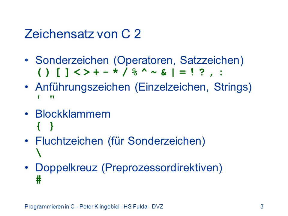 Programmieren in C - Peter Klingebiel - HS Fulda - DVZ64 Call by reference 8 Aufruf der Funktion
