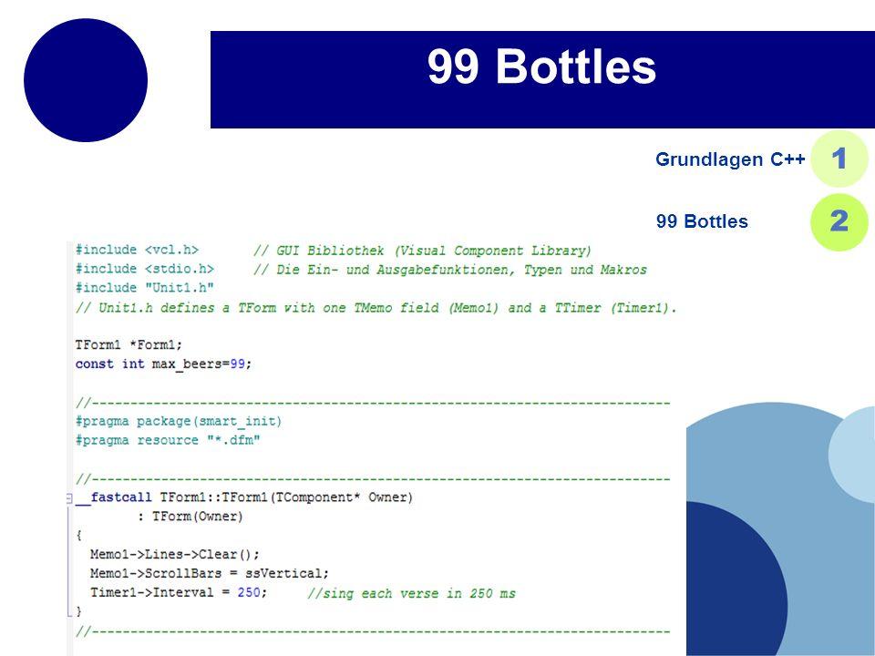 Grundlagen C++ 1 99 Bottles 2