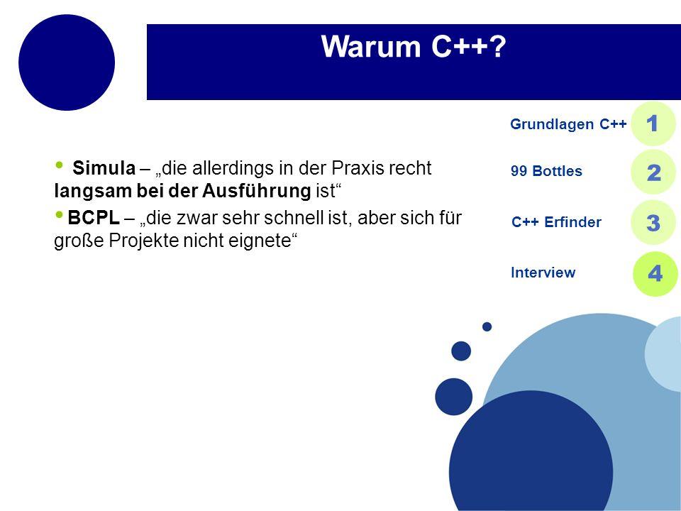 Warum C++.