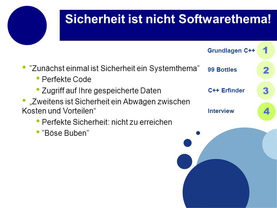 Sicherheit ist nicht Softwarethema.