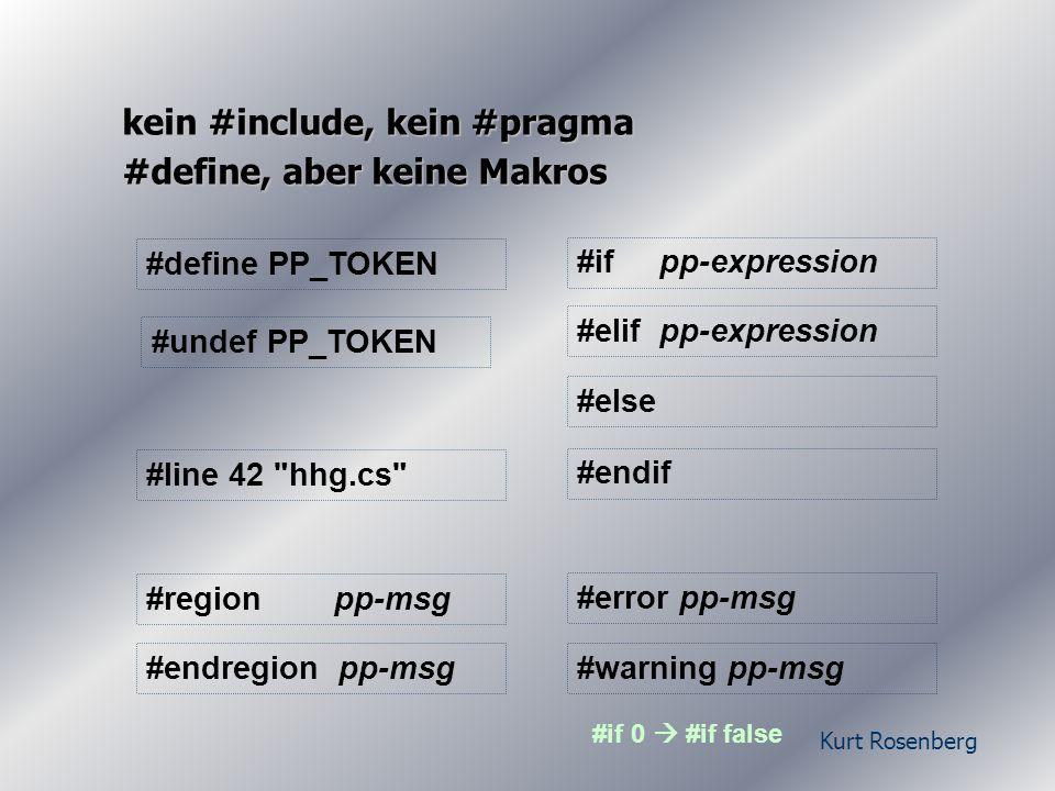 Kurt Rosenberg reines C# Properties != AttributesBsp...