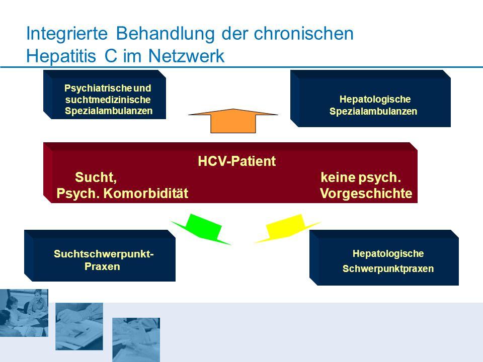 Psychiatrische und suchtmedizinische Spezialambulanzen Hepatologische Spezialambulanzen Suchtschwerpunkt- Praxen Hepatologische Schwerpunktpraxen Inte