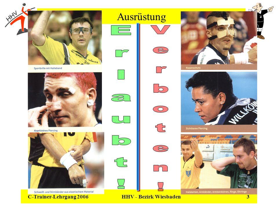 C-Trainer-Lehrgang 2006 HHV - Bezirk Wiesbaden 24 Regel 8 - Regelwidrigkeiten – Abwehr & Angriff Was ist nicht erlaubt - Regelwidrigkeiten.