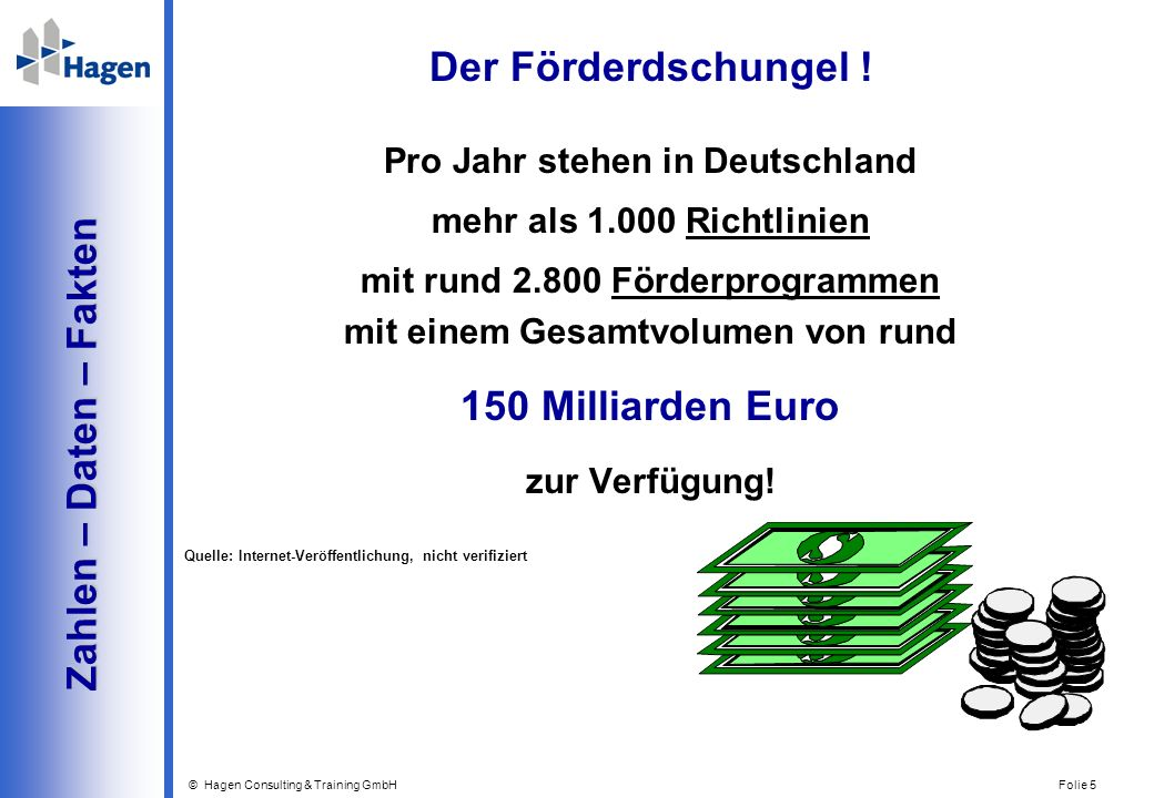 © Hagen Consulting & Training GmbH Folie 6 Fazit Fazit Die Botschaft .