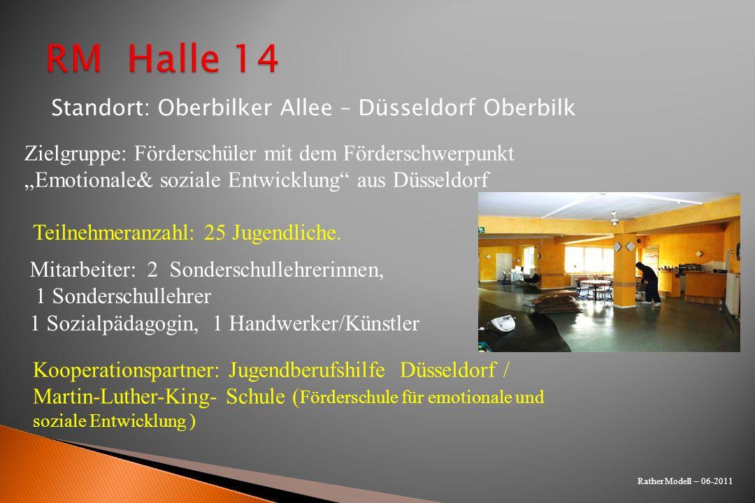 Rather Modell – 06-2011 Kooperationspartner: Jugendberufshilfe Düsseldorf / Martin-Luther-King- Schule ( Förderschule für emotionale und soziale Entwi