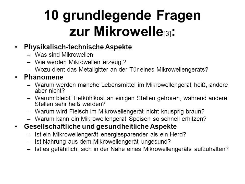 10 grundlegende Fragen zur Mikrowelle [3] : Physikalisch-technische Aspekte –Was sind Mikrowellen –Wie werden Mikrowellen erzeugt.