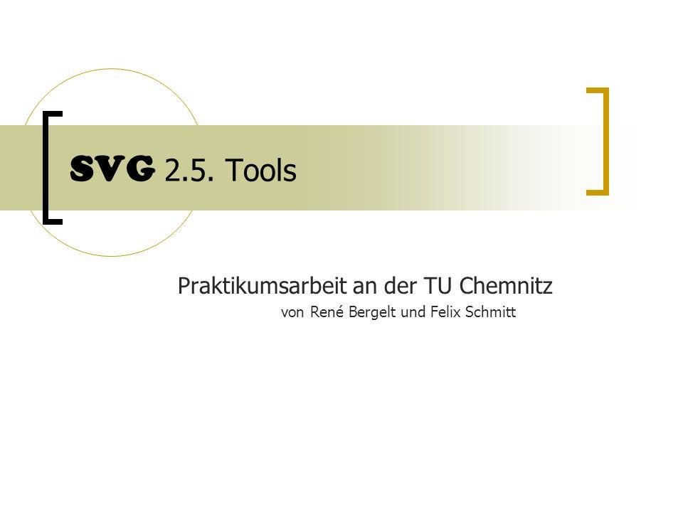 SVG 2.5. Tools Praktikumsarbeit an der TU Chemnitz von René Bergelt und Felix Schmitt