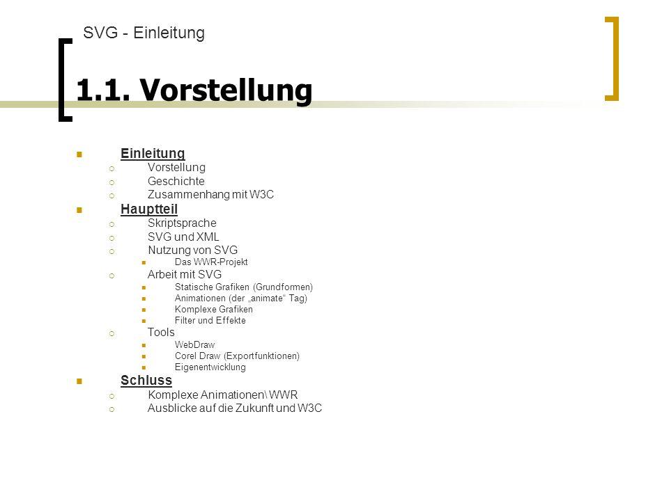 2.4.2. Animationen Werden durch animate-Tag definiert,,,, SVG - Arbeit mit SVG